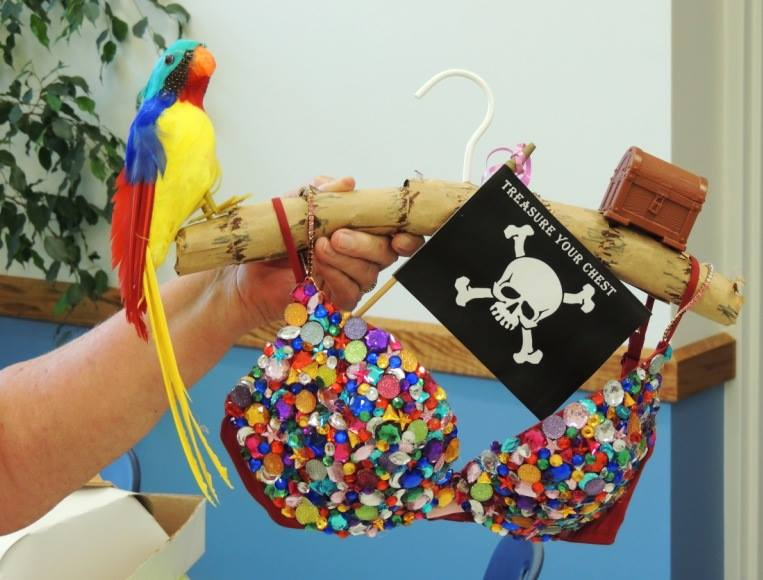Pirate Island Themed Blinged-out Bra