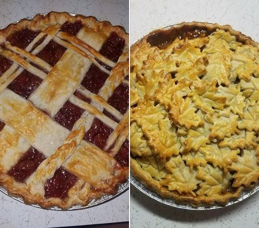 Ashley Heckman baked two tasty pies for Bill Walker to auction.