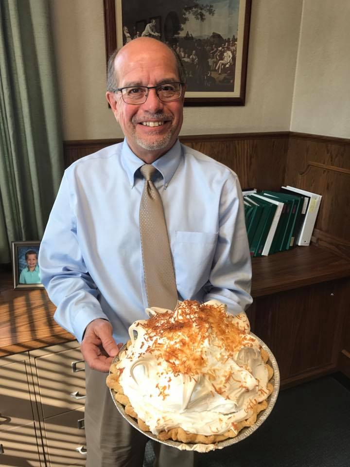 The high bidder gets to enjoy this wonderful coconut cream pie from Doug Stroud of Bradford National Bank! Plus, BNB will auction off a second pie - a deep dish Apple Caramel pie baked by Katie Schreiber in honor of her mother, Penni.